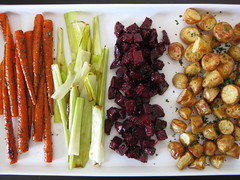 roasted root vegetables vinaigrette