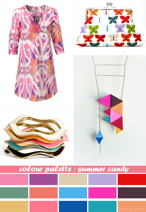 colour palette : summer candy - curated by Emma Lamb