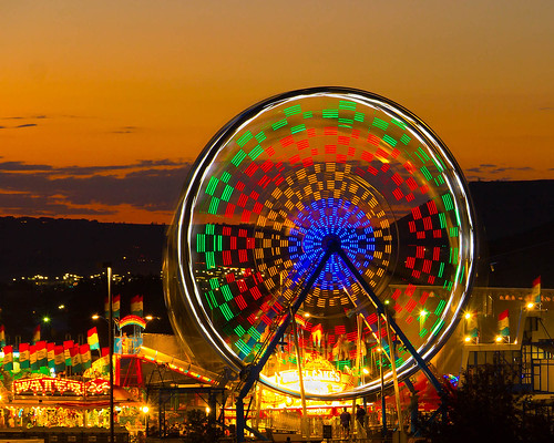 longexposure sunset orange twilight colorado ferriswheel castlerock douglascountyfairgrounds rockymountainfreedomfestival