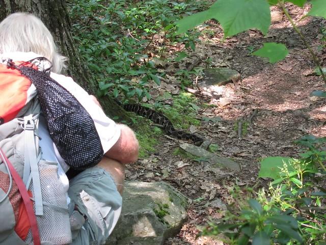 Dave shooting a rattlesnake