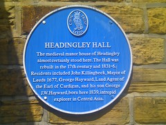Photo of Headingley Hall blue plaque