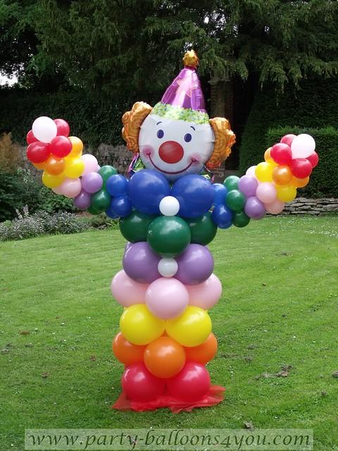 Balloon clown decorations professional balloon for Clown dekoration