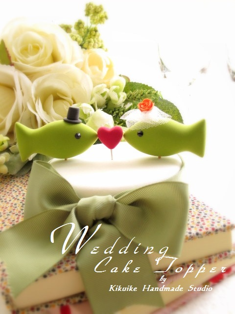 fish wedding cake toppers