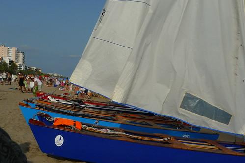 Travessa Alcanar-Calafell 2011. Arribada a Calafell (3a i última etapa). 1 d'agost juliol 2011.