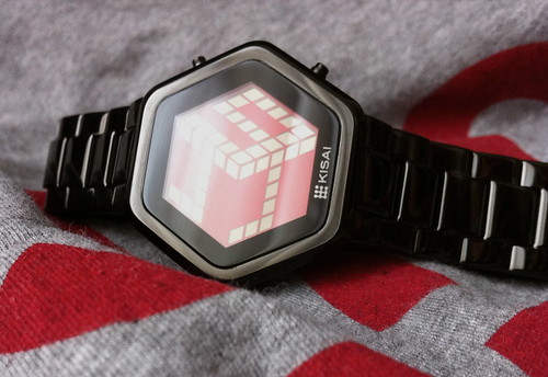 Kisai 3D Unlimited Red LCD Watch Design