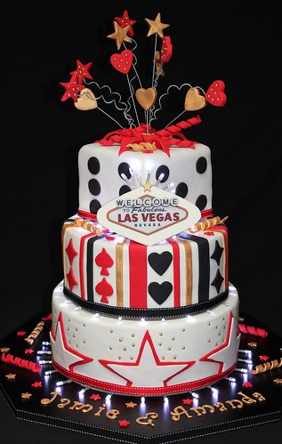 Jamie and Amanda Las Vegas Wedding Cake 001