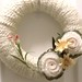 Cream Roses Felt and Yarn Wreath
