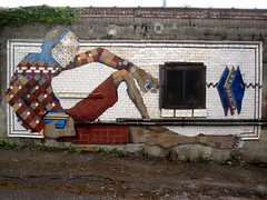 Mural from old tiles for L'Esperance Tile Works, Albany, NY by O V E R U N D E R