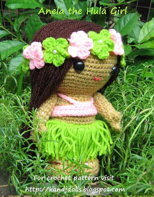 Amigurumi Hawai Doll : Anela the Hula Girl Amigurumi Crochet Doll Flickr ...