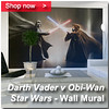Darth v Obi Wall Mural Panel 200 x 200