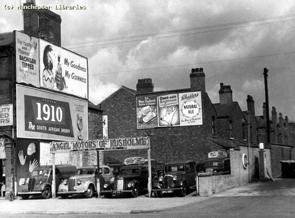 Rusholme, Wilmslow Road, east side 14, April 1958.