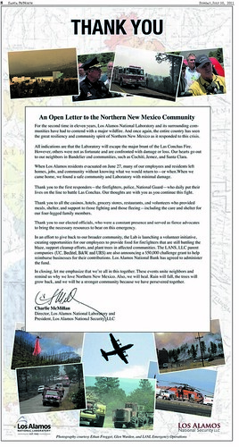 Open thank-you letter to Northern New Mexico Community
