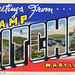 Greetings from Camp Ritchie, Maryland - Large Letter Postcard