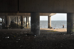 Jamaica Bay / Underpass, Boy, Fishermen