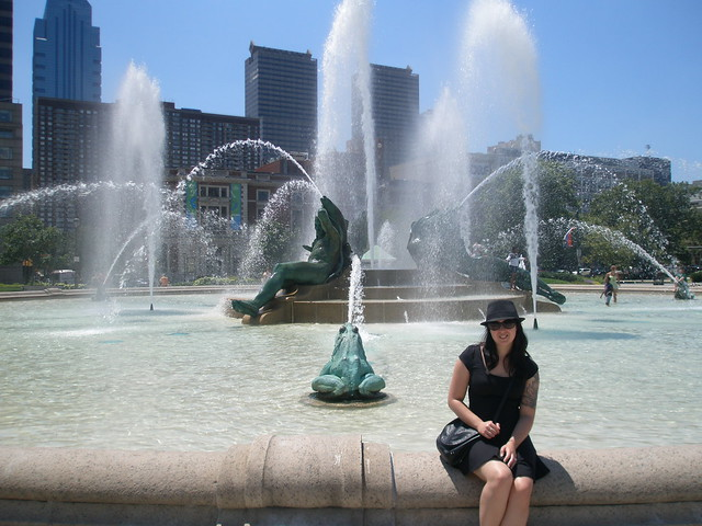 Toni at the Swann Memorial Fountain
