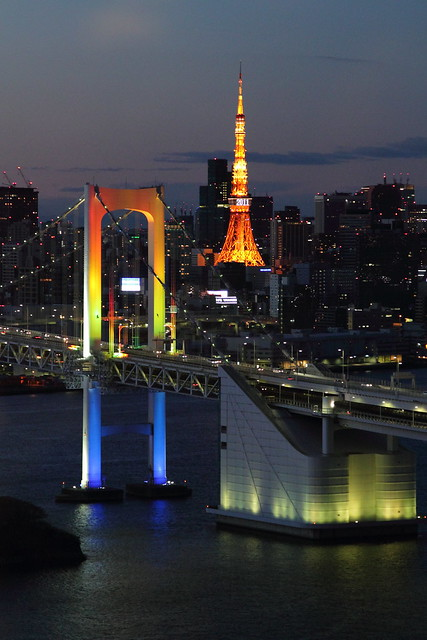 Odaiba at night