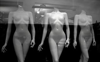 Three Barbie Graces (b&w)