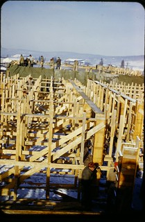 Eielson AFB Barracks Construction - Alaska - about 1950