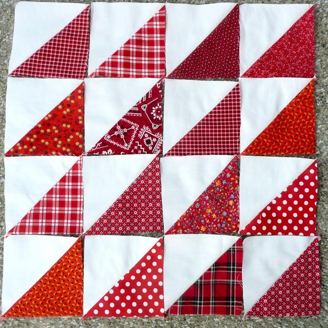 Half Square Triangle Quilt Blocks Flickr - Photo Sharing!