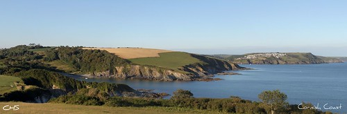 The Cornish Coast, looking towards Polruan and Fowey by Stocker Images