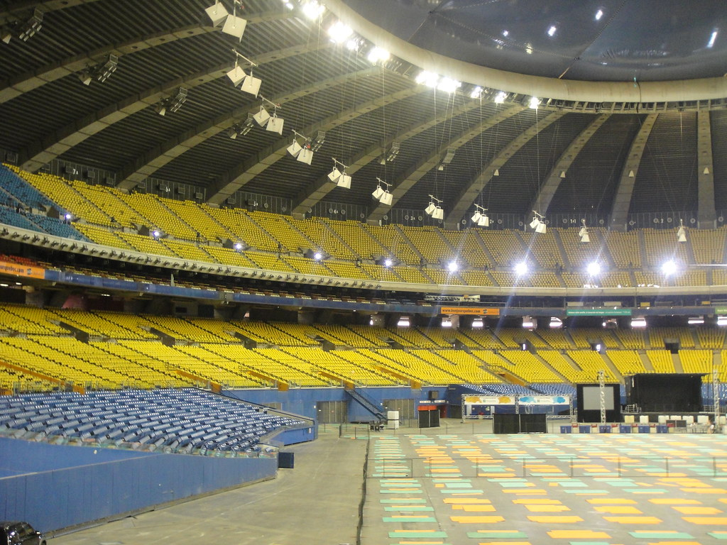 Inside the Montreal Olympic Stadium
