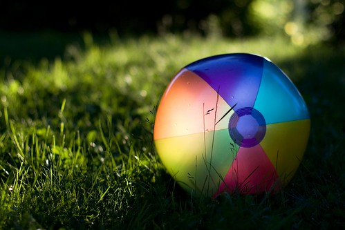 Beach Ball in Warm Light