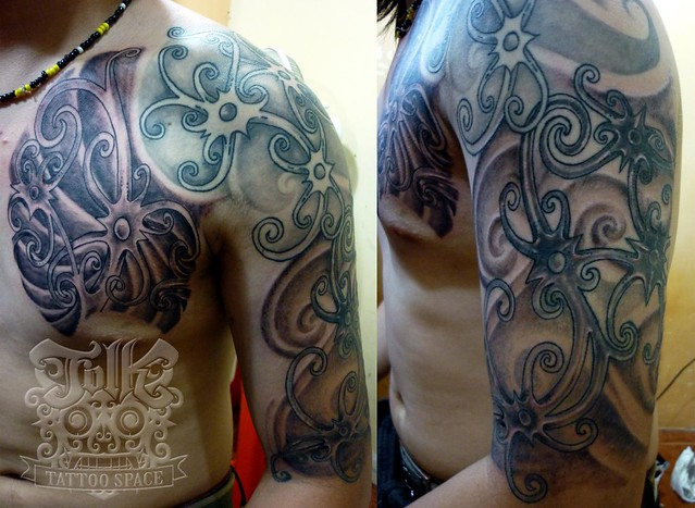 custom of dayak design tattoo by folk tattoo space flickr photo sharing. Black Bedroom Furniture Sets. Home Design Ideas