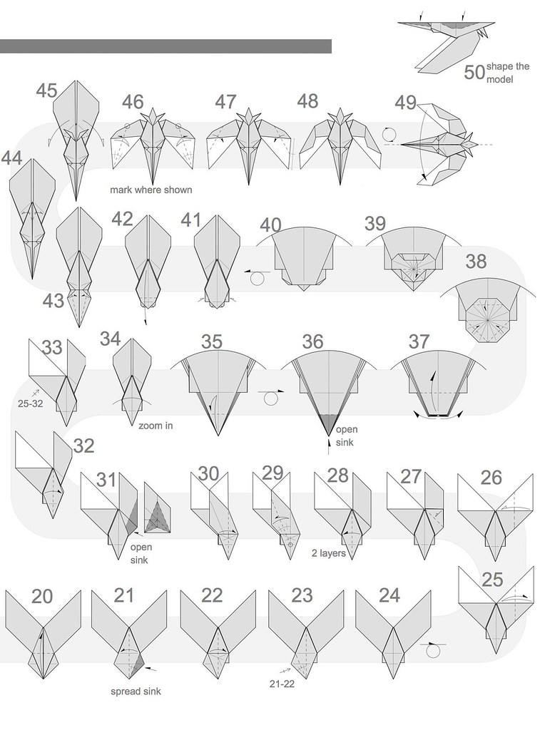 Origami Hummingbird Step By Choice Image Instructions