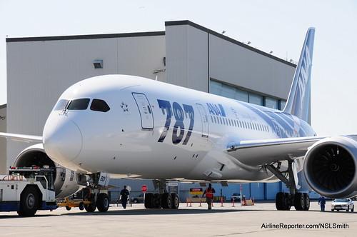 ANA's first Boeing 787 Dreamliner ZA101 JA801A