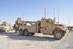 4-401st Soldiers remove broken down vehicles