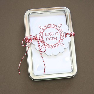 notecard gift tin
