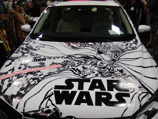 San Diego Comic-Con 2011 - the finished VW Passat with hand drawn Star Wars art