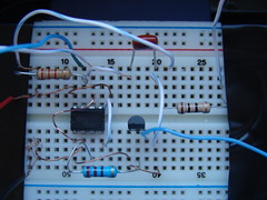 breadboard, circuit component, white, microcontroller, electrical wiring, electrical network,