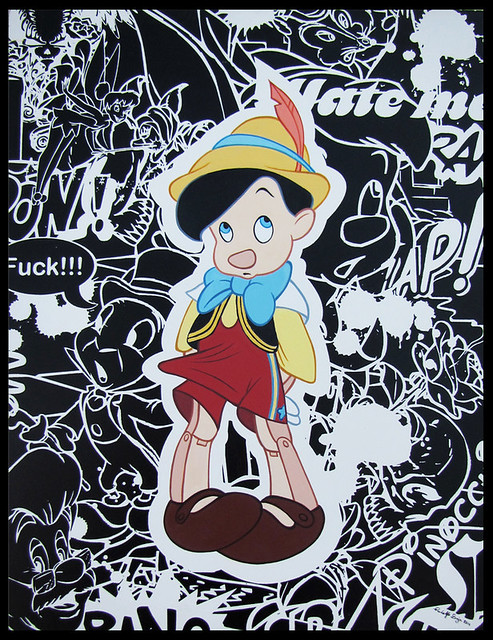 """Lie to Me Again!"" Acrylic on wood 11"" x 14"" 2011."