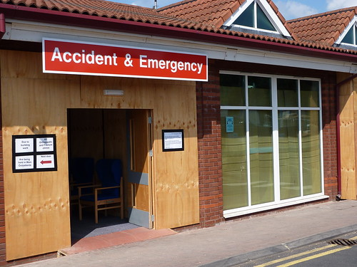 An accident at work could mean you end up in A & E