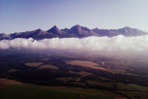 High Tatras from the air