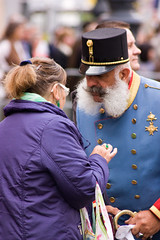 Franz Joseph habla con sus súbditos