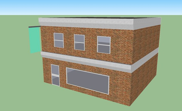 Google sketchup test building flickr photo sharing for Sketchup building