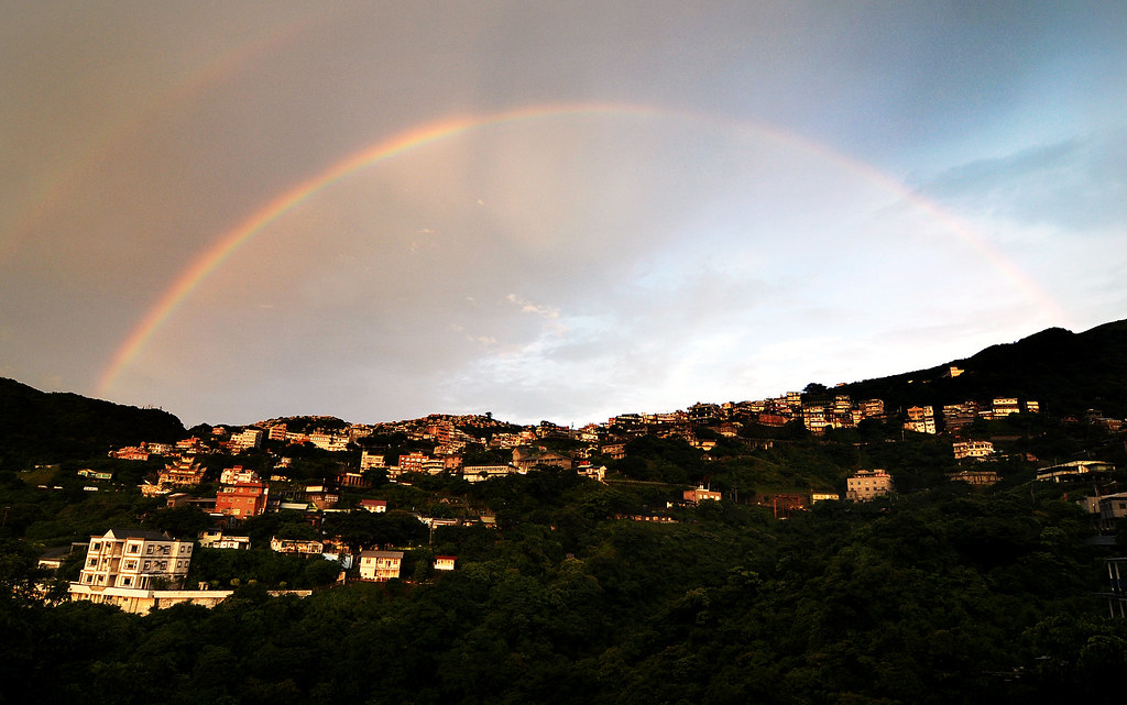 Rainbows in Jiufen.