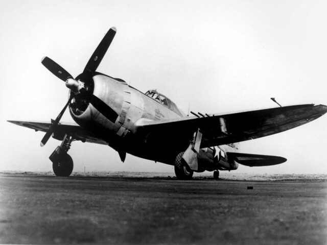 A P-47 Thunderbolt during World War II