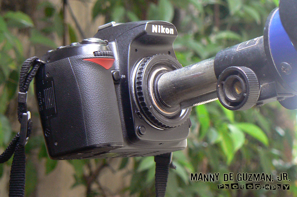 Homemade F Mount Eyepiece T Adapter For Nikon D90 Dslr Tel Flickr