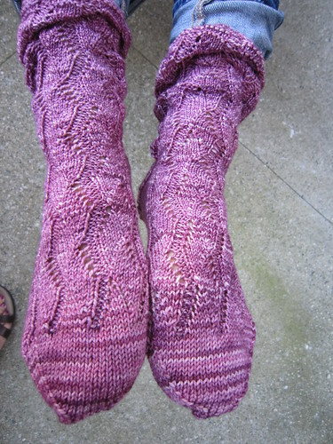 Elisa's Waving Lace socks 2