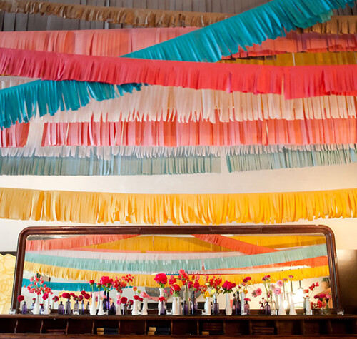 Decoração bem colorida para festas