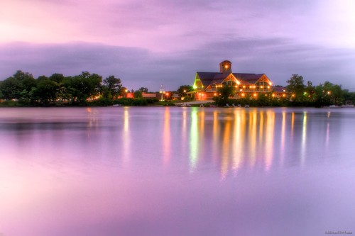 Cooper River Boathouse at dusk by mhoffman1