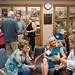 The Class of 1966 gathered informally in the library to begin their reunion weekend. Photo by Sher Stoneman.