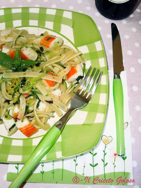 Scialatielli al limone, surimi e zucchine 2