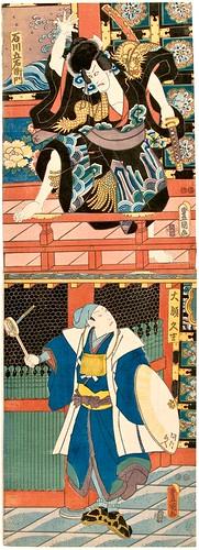 Kunisada. Kabuki Actor Kakemono