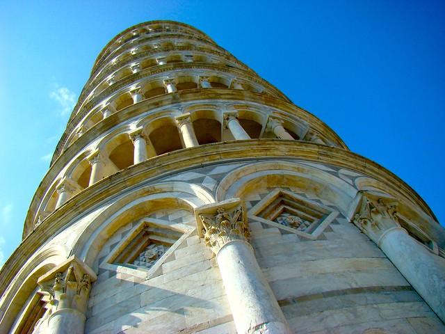 Campanile o Torre inclinada de Pisa. Italia.