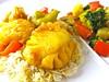 Fish Korma with Mixed Vegetables
