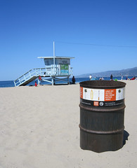 Clean Beach Santa Monica Beach, CA